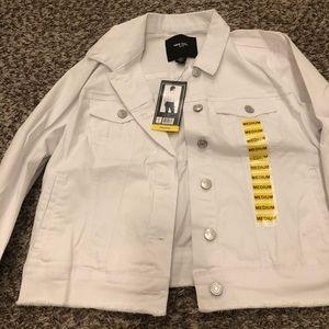 white jean jacket nwt